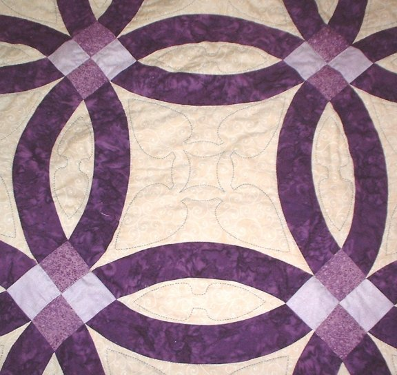hand quilting double wedding ring quilt - Double Wedding Ring Quilt Templates